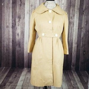Lilly Pulitzer tan lightweight cotton trench coat